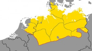 Het Nedersaksisch taalgebied loopt tot Denemarken en Polen
