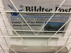 De foarkant fan de Bildtse Post fan 25.1.2017